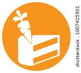 carrot cake day  symbolism cake ... | Shutterstock .eps vector #1007425501