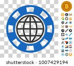 global casino chip pictograph...   Shutterstock .eps vector #1007429194