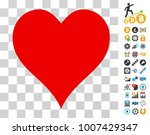 hearts suit icon with bonus...