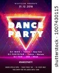 dance party poster vector...   Shutterstock .eps vector #1007430115