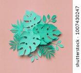 3d rendering  paper art ... | Shutterstock . vector #1007430247