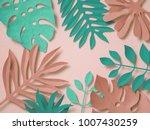 3d rendering  paper art ...   Shutterstock . vector #1007430259