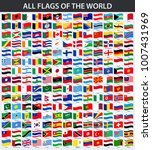 all flags of the world in... | Shutterstock .eps vector #1007431969