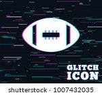 glitch effect. american... | Shutterstock .eps vector #1007432035