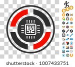 roulette processor icon with...