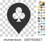 clubs casino pointer icon with...