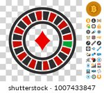 casino roulette pictograph with ...