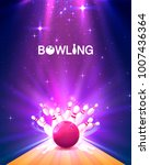 bowling club poster with the... | Shutterstock .eps vector #1007436364