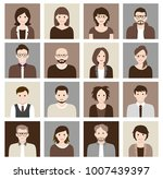 collection of cartoons   human... | Shutterstock .eps vector #1007439397