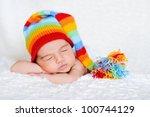 Close Up Of Sleeping Newborn...