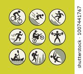 sports and lifestyle icons set. | Shutterstock .eps vector #1007441767