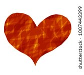 abstract heart paint stripe... | Shutterstock .eps vector #1007443399