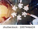 teamwork of partners. concept... | Shutterstock . vector #1007446624