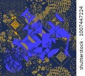 blue geometric pattern design ... | Shutterstock .eps vector #1007447224