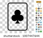 clubs gambling card pictograph...