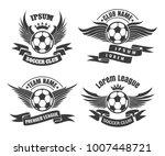 set of soccer football badge... | Shutterstock .eps vector #1007448721