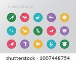 set of 15 editable zoo icons....