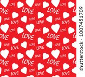 valentine seamless pattern with ... | Shutterstock .eps vector #1007451709