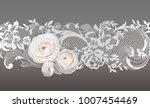 lace ribbon. flowers   Shutterstock .eps vector #1007454469