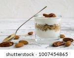 useful homemade yogurt with... | Shutterstock . vector #1007454865