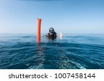 female scuba diver with surface ... | Shutterstock . vector #1007458144