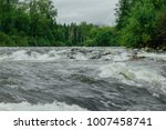 mountain river with green... | Shutterstock . vector #1007458741