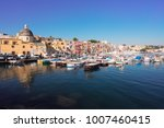harbour with colorful old... | Shutterstock . vector #1007460415