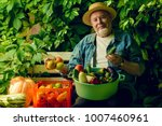 happy senior man with great... | Shutterstock . vector #1007460961
