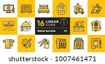 linear icons set of hotel... | Shutterstock .eps vector #1007461471
