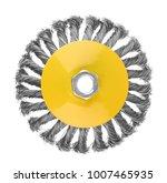 rotating metal brush  isolated...   Shutterstock . vector #1007465935