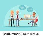 business people working in... | Shutterstock .eps vector #1007466031