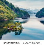 picturesque summer view of... | Shutterstock . vector #1007468704