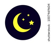 mysterious night sky moon and... | Shutterstock .eps vector #1007469604