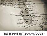 florida map background | Shutterstock . vector #1007470285