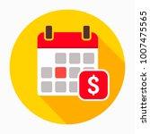 dollar calendar day icon vector ...   Shutterstock .eps vector #1007475565