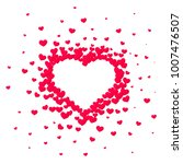 pink hearted background with a... | Shutterstock .eps vector #1007476507