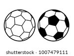 football soccer ball sports... | Shutterstock .eps vector #1007479111