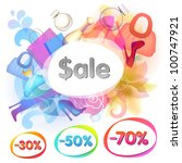 colorful sale vector background ... | Shutterstock .eps vector #100747921