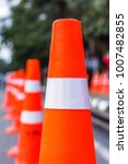 orange traffic cones in the... | Shutterstock . vector #1007482855