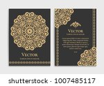 gold vintage greeting card on a ... | Shutterstock .eps vector #1007485117