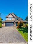 big custom made luxury house... | Shutterstock . vector #1007489971