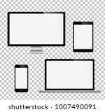 set computer  laptop  tablet ... | Shutterstock .eps vector #1007490091