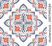 beautiful blue and orange... | Shutterstock .eps vector #1007490184