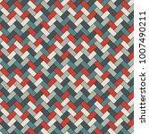 herringbone wallpaper. abstract ... | Shutterstock .eps vector #1007490211