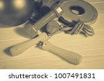 sports equipment  fitness and... | Shutterstock . vector #1007491831
