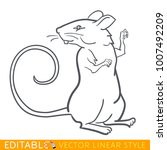 rat zodiac sign. mouse chinese...   Shutterstock .eps vector #1007492209