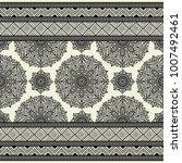 seamless decorative border.... | Shutterstock .eps vector #1007492461