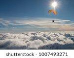 paragliding above mountain...   Shutterstock . vector #1007493271