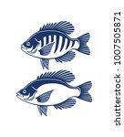 bluegill and crappie | Shutterstock .eps vector #1007505871