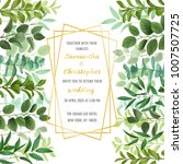 floral wedding invitation with... | Shutterstock .eps vector #1007507725